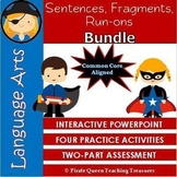 Fragments, Run-ons, & Sentences Bundle/ CCSS Aligned 4th Grade Up