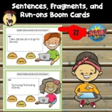 Sentences, Fragments, and Run Ons BOOM Cards - Digital Task Cards