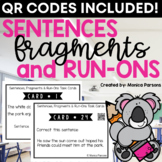 Sentences Fragments and Run-Ons Task Cards