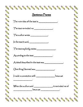 Sentences Frames