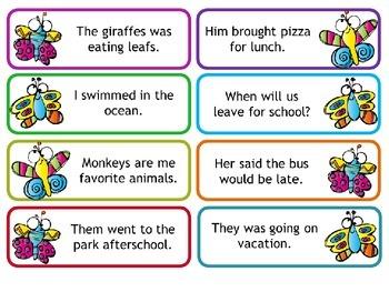 Sentences - Grammar Fix-It!