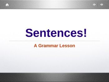 Sentences! PowerPoint Presentation