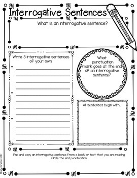 Sentences Graphic Organizers
