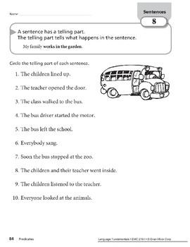 Sentences Have Predicates