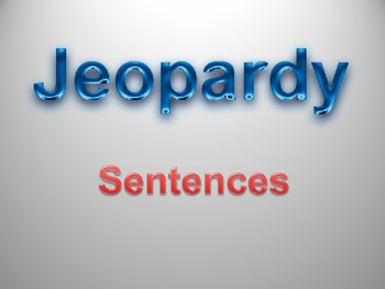 Sentences Jeopardy Game