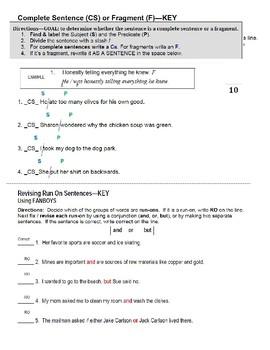 Sentences Part TWO---4th - 8th Grades