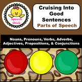 Parts of Speech Activity Safari Theme BUNDLE! Speech Therapy