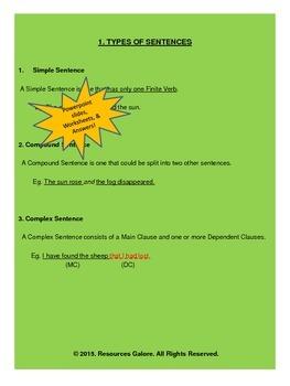 Sentences, Phrases & Clauses