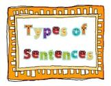 Sentences Poster Set - Interrogative, Declarative, Imperative, Exclamatory
