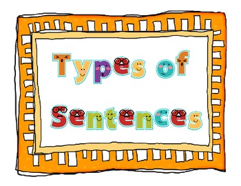 Sentences Poster Set - Interrogative, Declarative, Imperative, Exclamatory