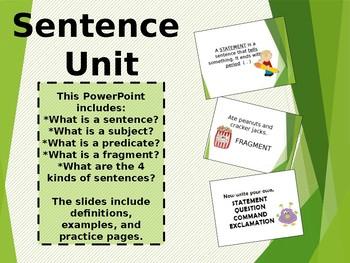 Sentence Unit PowerPoint