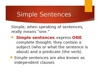 Sentences Presentation