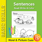 Sentences: Read, Write, & Color