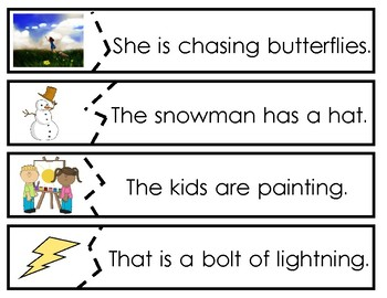 Read and Write Sentences - Task Cards