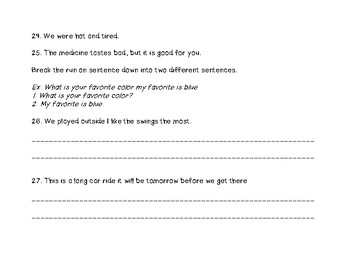 Sentences Review