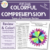 Sentences Review, Fragments, Run-On-Colorful Comprehension