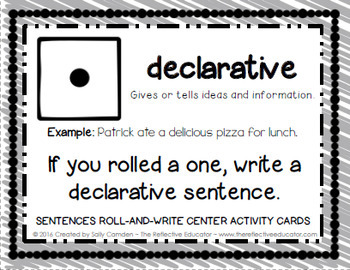 Sentences Roll-and-Write: 6 Types of Sentences