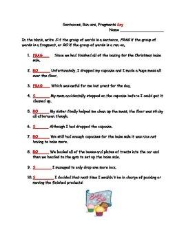 Sentences, Run-ons, and Fragments Packet