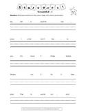 "Sentences ""Scrambled"" encourages K-3 Sight Word Writing! (SET 1)"