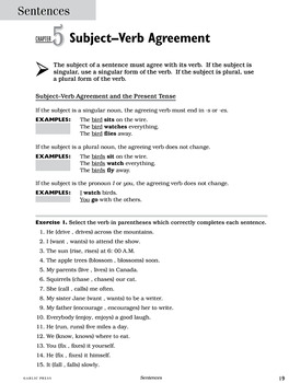 Sentences: Straight Forward ELA for Older Students