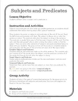 Sentences - Subjects, Predicates, Run-on, Compound, Complex, Types of Sentences
