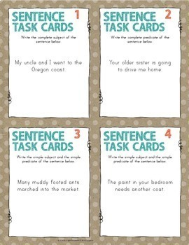 Sentences - Subjects, Predicates, Run-on, Compound, Complex, Types of Sentences