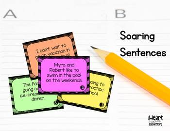 Activities for Writing Sentences- Soaring Sentences