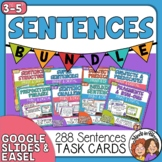 Sentences Task Card Bundle Print or Use Digitally with Easel