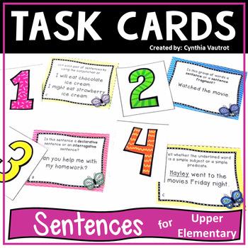 Sentences! Task Cards!