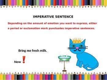 Sentences, The Four Kinds, Declarative, Interrogative, Imperative, Exclamatory