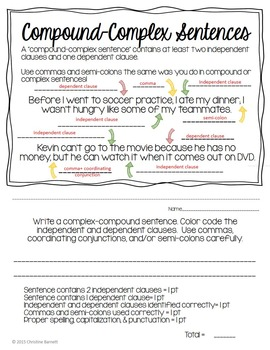 Sentence Types & Forms: Mentor & Proof of Mastery Sentences Booklet
