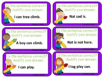 Sentences: Word Order