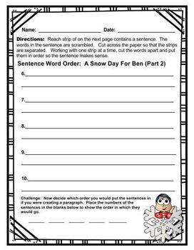 Sentences ~ Word Order