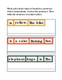 Sentences Word Order Write Critical Thinking Literacy Read
