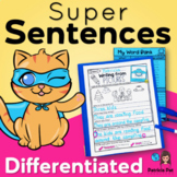 Sentence Writing and Sentence Structure Practice Differentiated