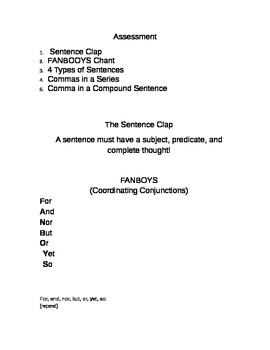 Sentences and FANBOYS