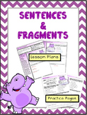 Sentences and Fragments ELA Activity and Lesson Plans