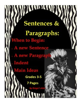 Writing Sentences and Paragraphs