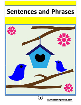 Short Sentences and phrases for Fluency - Writing English pack