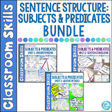 Subject and Predicate Sentence Building BUNDLE with Digital Pages