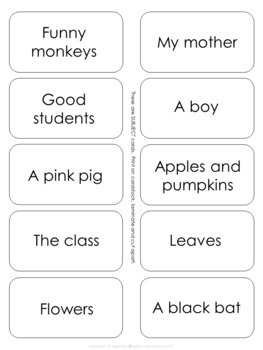 Subjects and Predicates Unit 2 Sentence Building