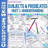 Subject and Predicate Sentence Building Unit 1 with Digital Pages