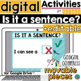 Sentences for Google Classroom Activities DISTANCE LEARNING