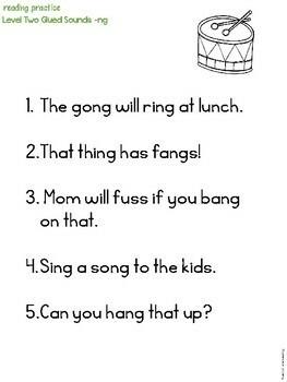 Sentences for Reading Practice Set 2