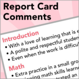 Sentences for Report Card Comments—with Distance Learning