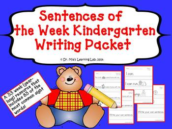 Sentence Writing Packet (a year-long resource)