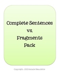 Sentences vs. Fragments Pack