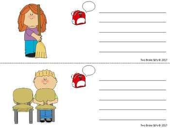 Sentences with Backpack Callouts (Classroom Jobs)