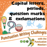 Sentences with Capital Letters, Periods, Question Marks and Exclamations