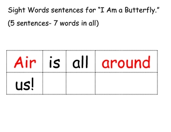 Sentences with High Frequency Words from Trophies Book 3